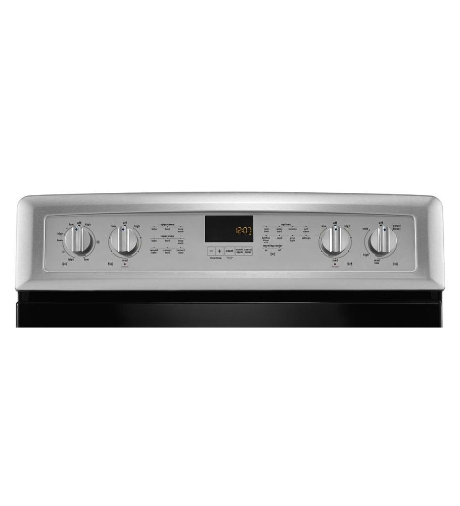 Met8820ds maytag gemini r double oven electric stove with evenair true convection 6 7 total - Maytag electric double oven range ...