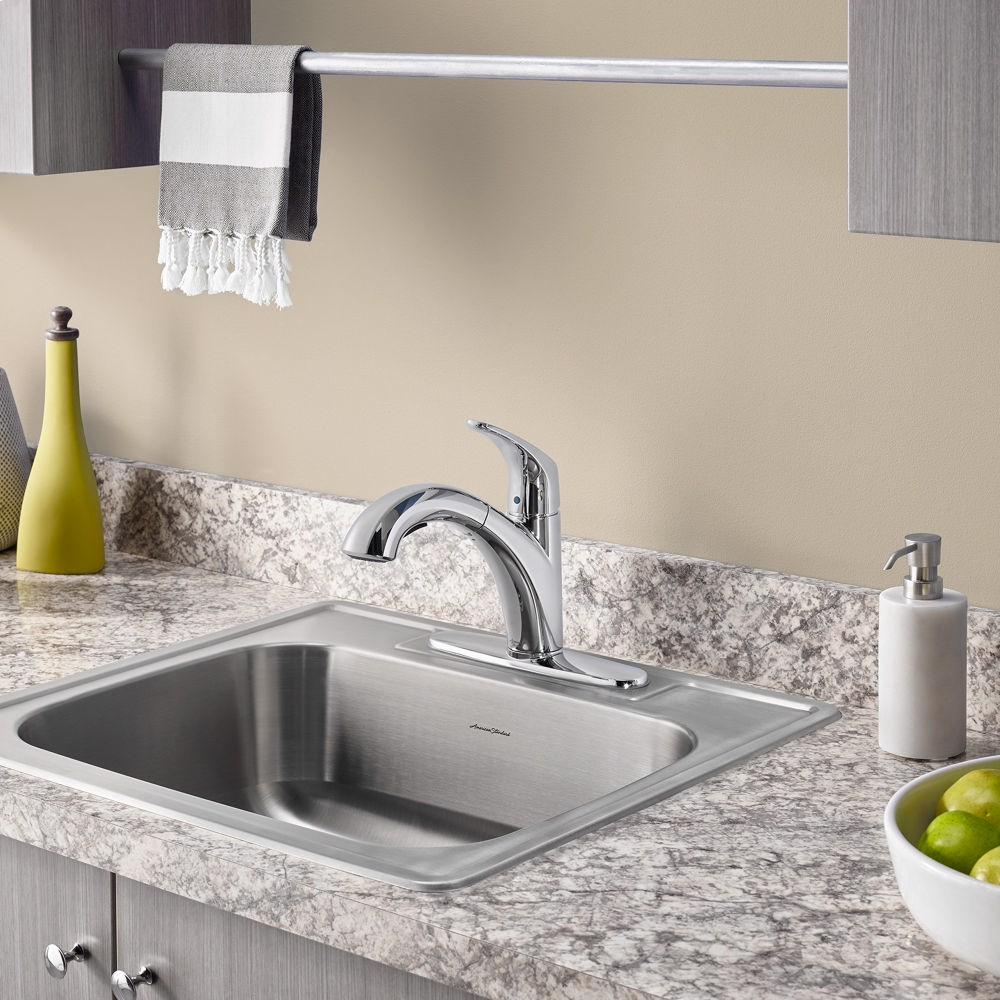 colony 25x22 inch stainless steel kitchen sink 4 hole american standard   stainless steel 20sb8252284s075 in stainless steel by american standard in houston      rh   westheimerplumbing com