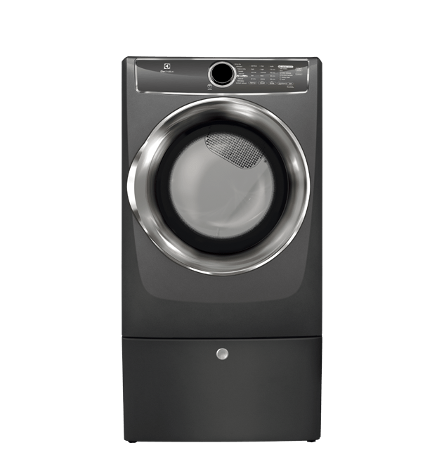Front Load Perfect Steam(TM) Electric Dryer with Instant Refresh and 9 cycles - 8.0 Cu. Ft.  Titanium