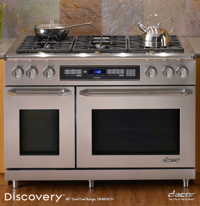 Er48dschlp dacor discovery 48 gas range in stainless for Dacor cooktop