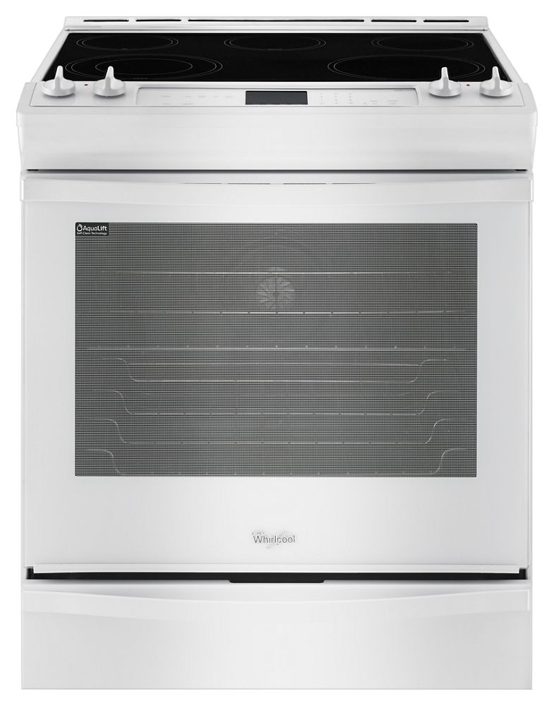 6.2 cu. ft. Front-Control Electric Stove with Fan Convection  White
