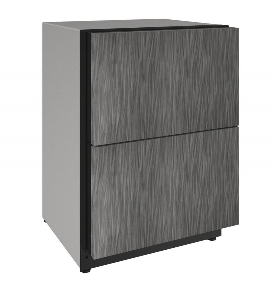 "2000 Series 24"" Solid Refrigerator Drawers With Integrated Solid Finish and Drawers Door Swing