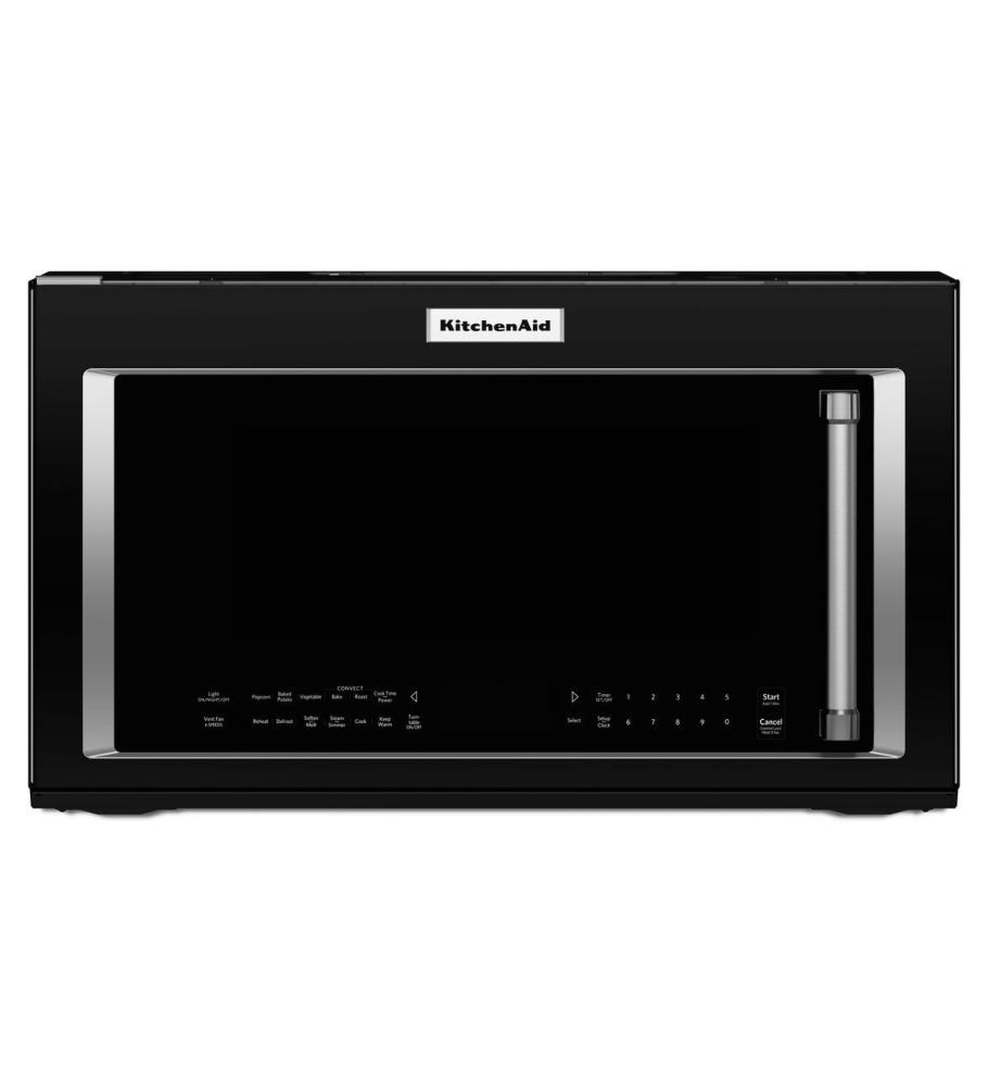 Kmhc319ebl kitchenaid 30 1 9 cu ft 1000w over the range convection microwave with high speed - Red over the range microwave ...