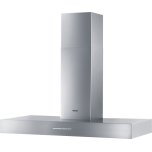 MieleMiele Wall ventilation hood with energy-efficient LED lighting and backlit controls for easy use.