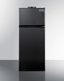 Frost-free Break Room Refrigerator-freezer In Black With Nist Calibrated Alarm/thermometers