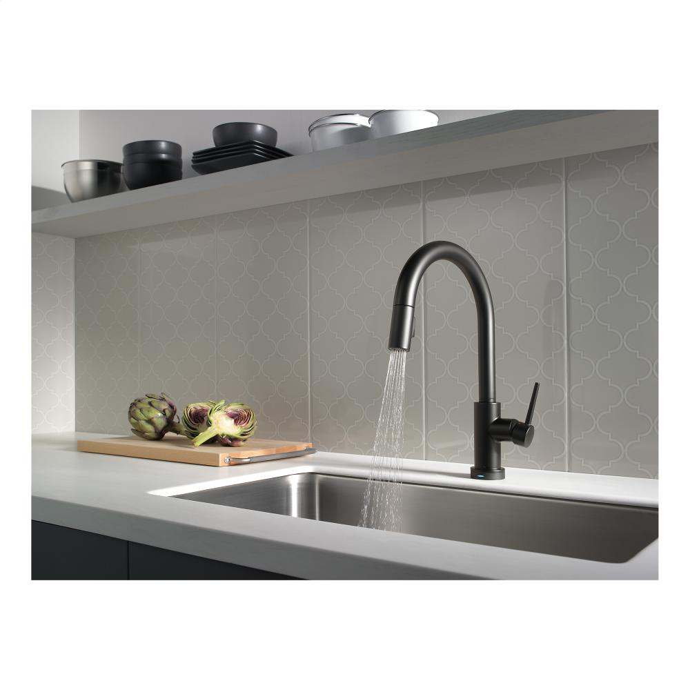 Touch Technology Kitchen Faucet Matte Black Kitchen Faucet 1 Alternate Image Pull Out Spray 360