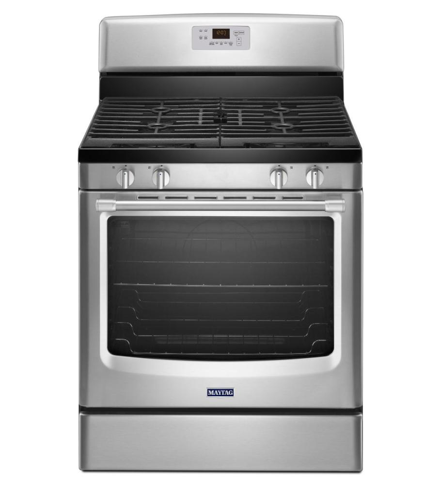 Stainless Steel Stove ~ Mgr ds maytag gas freestanding range with stainless