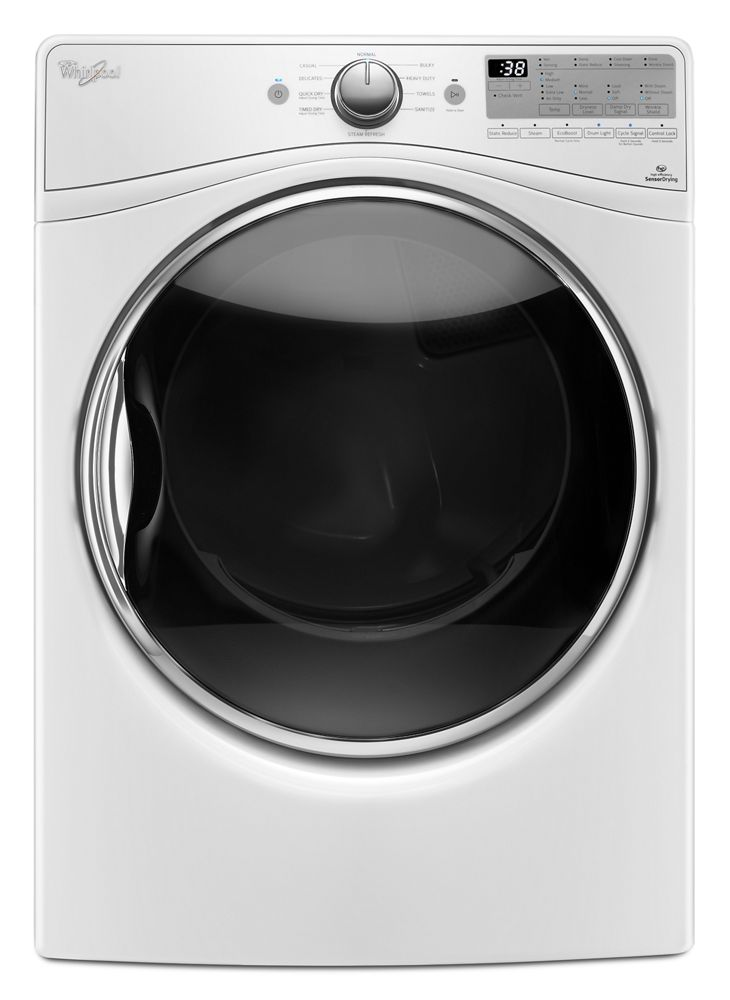 7.4 Cu. Ft. Front Load Gas Dryer with Advanced Moisture Sensing  White
