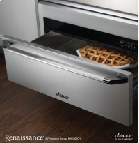 """Renaissance 30"""" Epicure Warming Drawer, in Stainless Steel with Chrome Trim"""