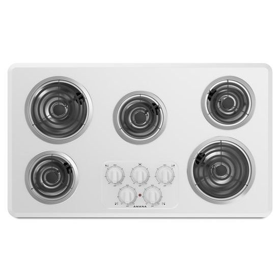 36-inch Electric Cooktop with 5 Elements - white  white