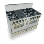 Five StarFive Star 48&quot All Gas Range, Open Burners, Stainless Steel with Brass Trim