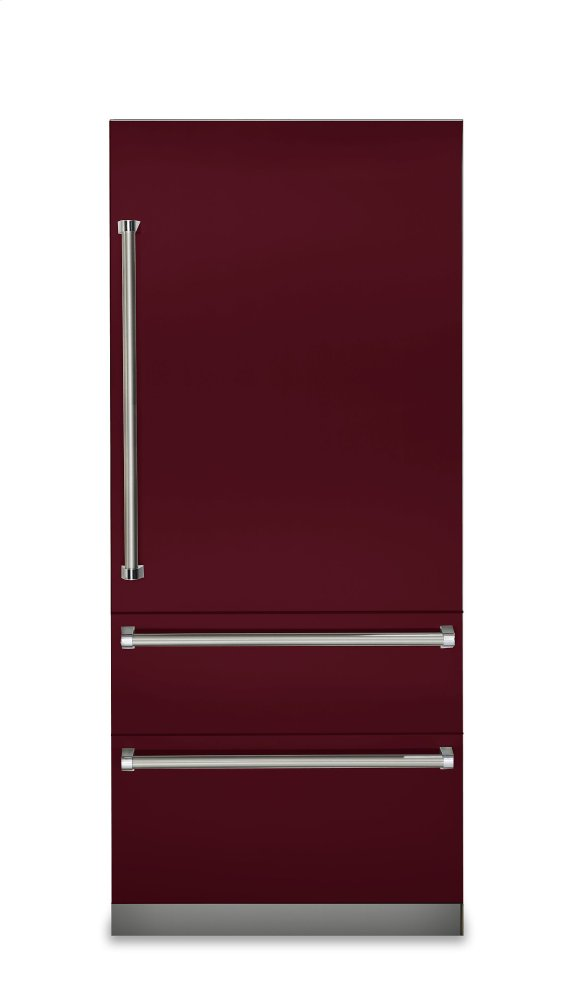 "36"" Fully Integrated Bottom-Freezer Refrigerator, Right Hinge/Left Handle