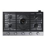 "Samsung36"" Gas Cooktop with 22K BTU True Dual Power Burner"