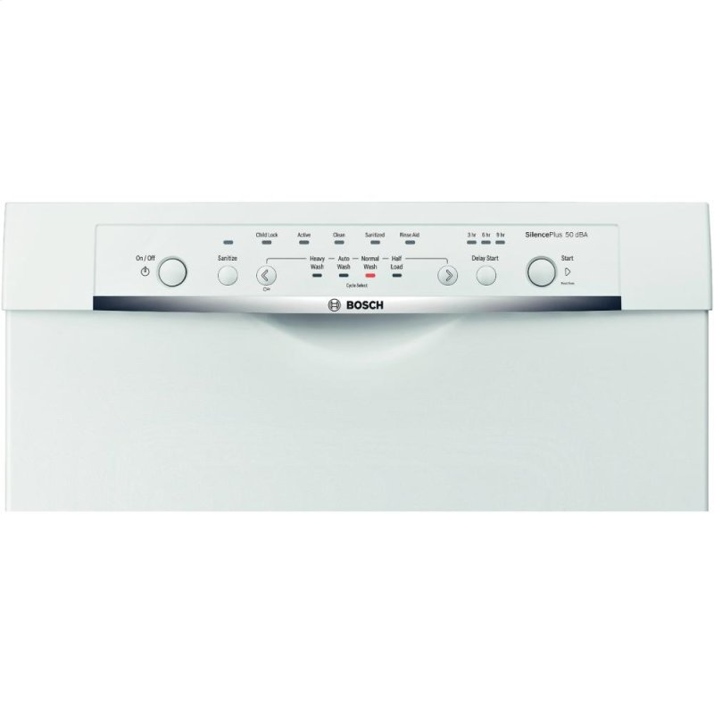 """SHE3AR52UC in White by Bosch in Montreal, QC - 23 5/8"""" Recessed Handle ..."""