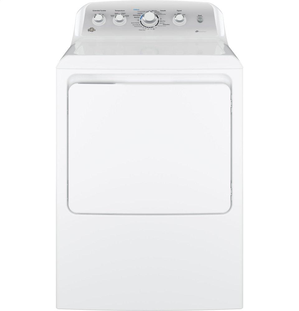 GE(R) 7.2 cu. ft. capacity aluminized alloy drum electric dryer with HE Sensor Dry