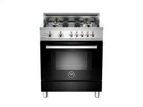 30 4-Burner, Electric Self-Clean Oven Black
