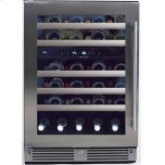 24in Wine Cellar 2 Zone SS Glass LH