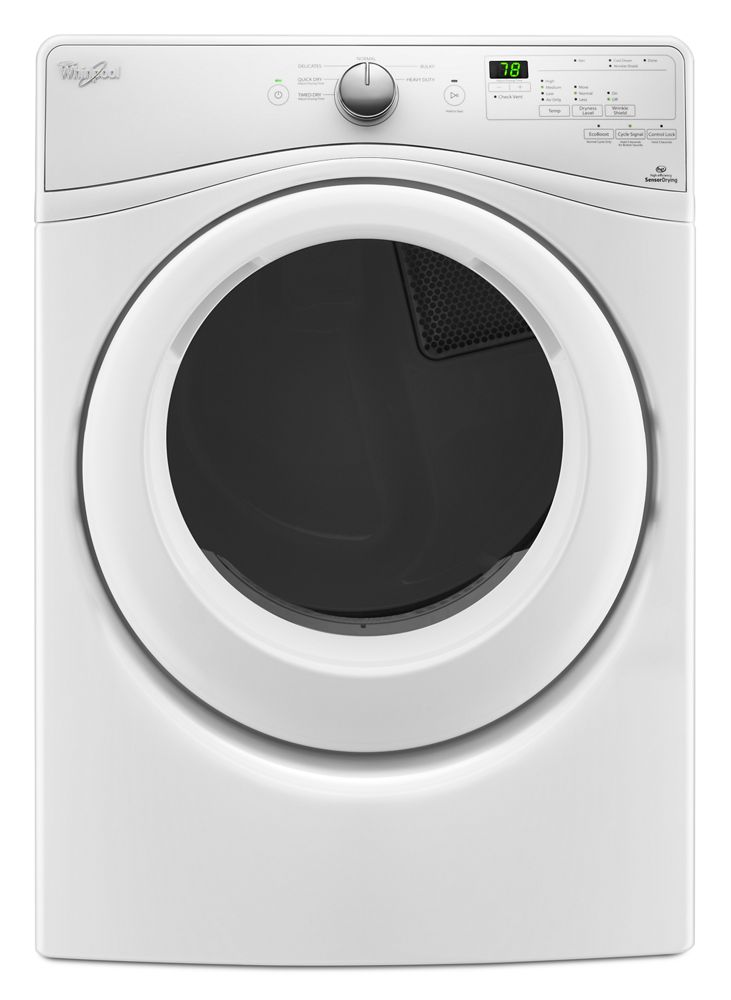 7.4 Cu. Ft. Front Load Long Vent Electric Dryer with Advanced Moisture Sensing