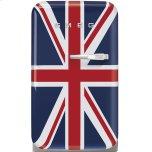 SmegSmeg Approx 16&quot 50's Retro Style Mini Refrigerator, Union Jack, Left hand hinge
