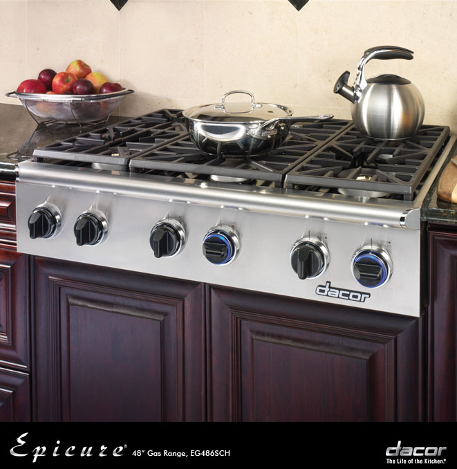 Eg486schngh dacor discovery 48 gas cooktop in for Dacor 48 range