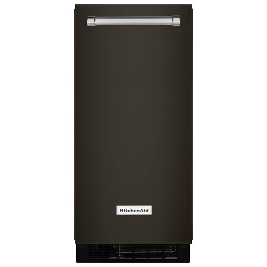 KitchenAid(R) 15'' Automatic Ice Maker with PrintShield(TM) Finish - Black Stainless