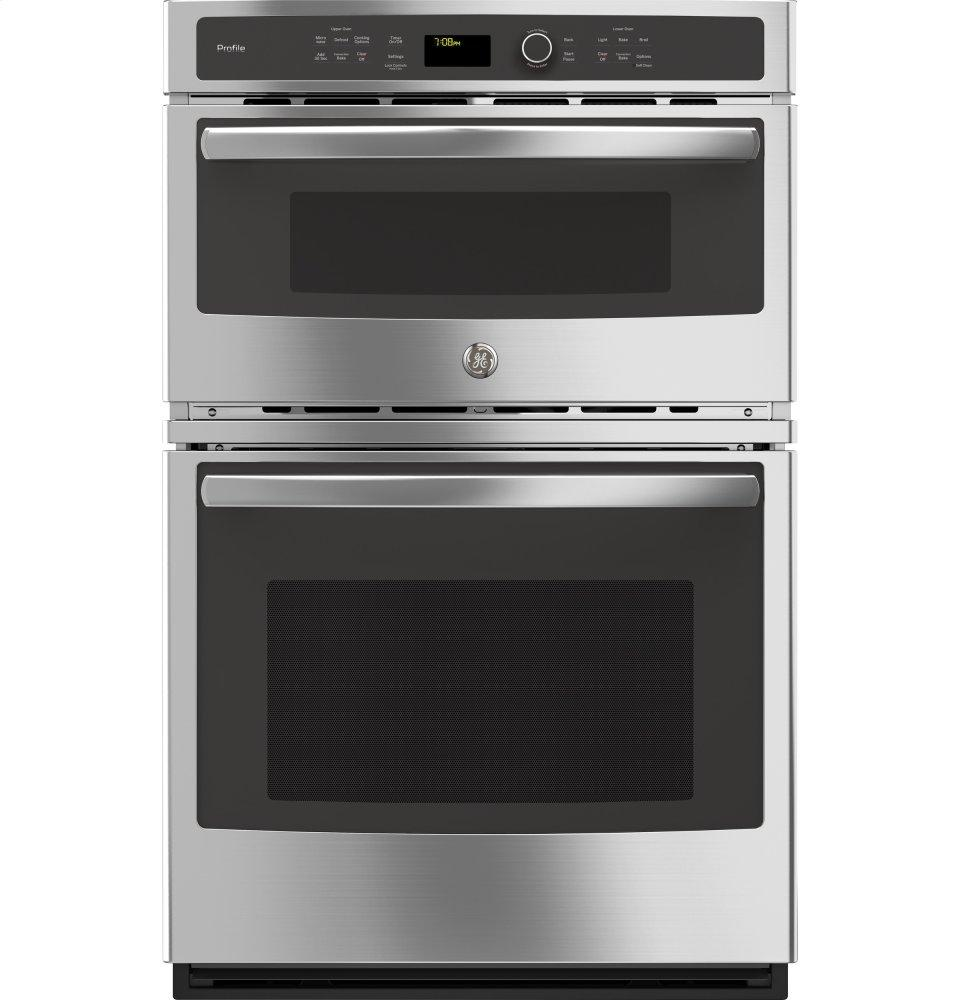"GE Profile(TM) Series 27"" Built-In Combination Convection Microwave/Convection Wall Oven