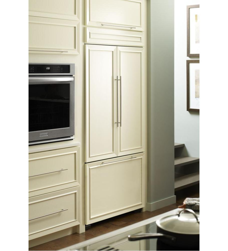 Kbfc42fts kitchenaid 24 2 cu ft 42 inch width built in for French door width