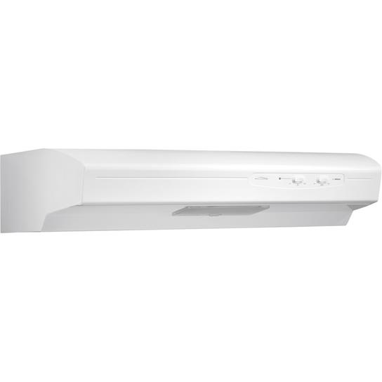 "Broan 220 CFM, 30"" Undercabinet Hood in White