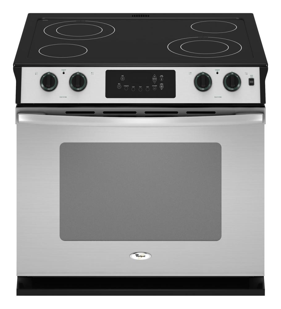 30 Inch Self Cleaning Drop In Electric Range Whirl Wde350lvs