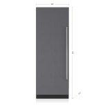 Sub ZeroSub Zero 30&quot Designer Column Refrigerator with Internal Dispenser - Panel Ready