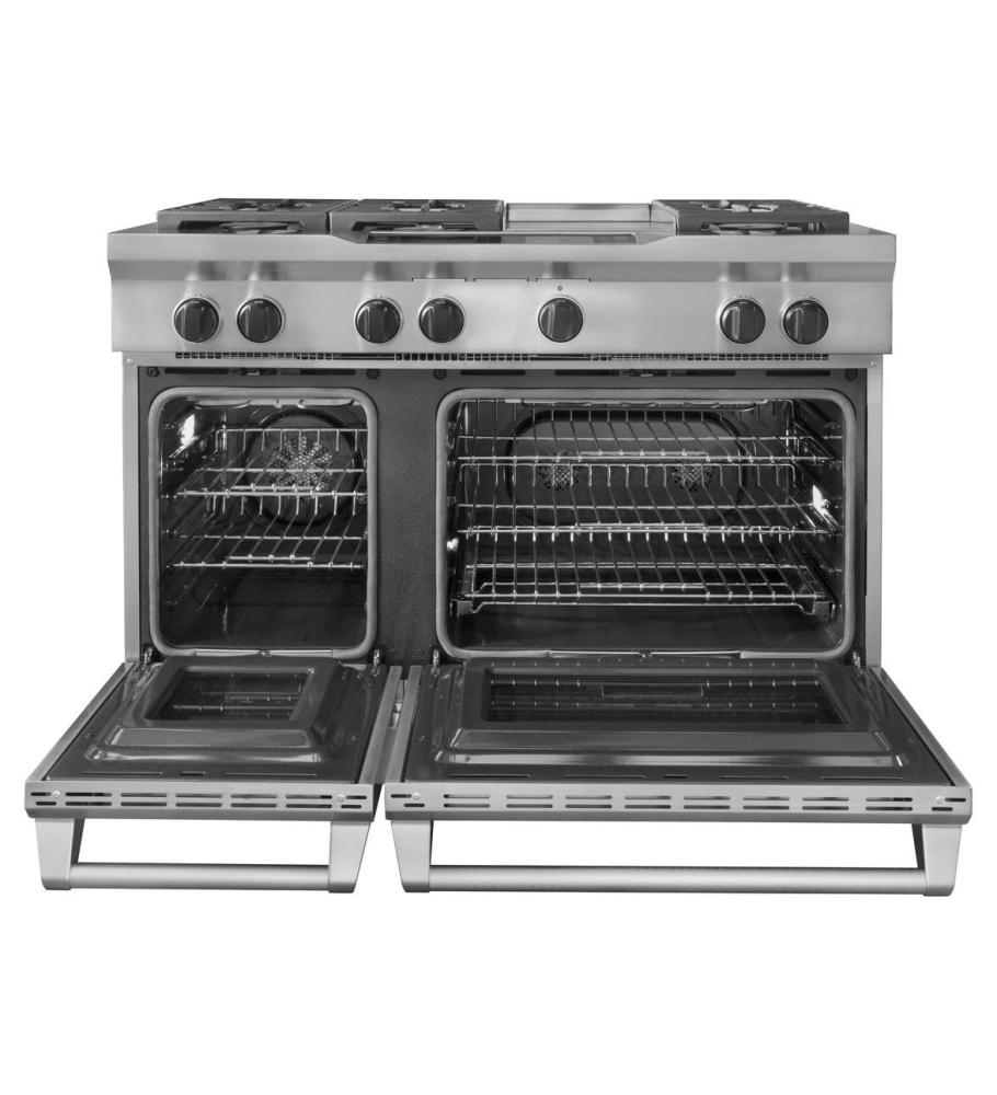 Kdru783vss kitchenaid 48 inch 6 burner with steam assist oven dual fuel freestanding range - Kitchenaid inch dual fuel range ...