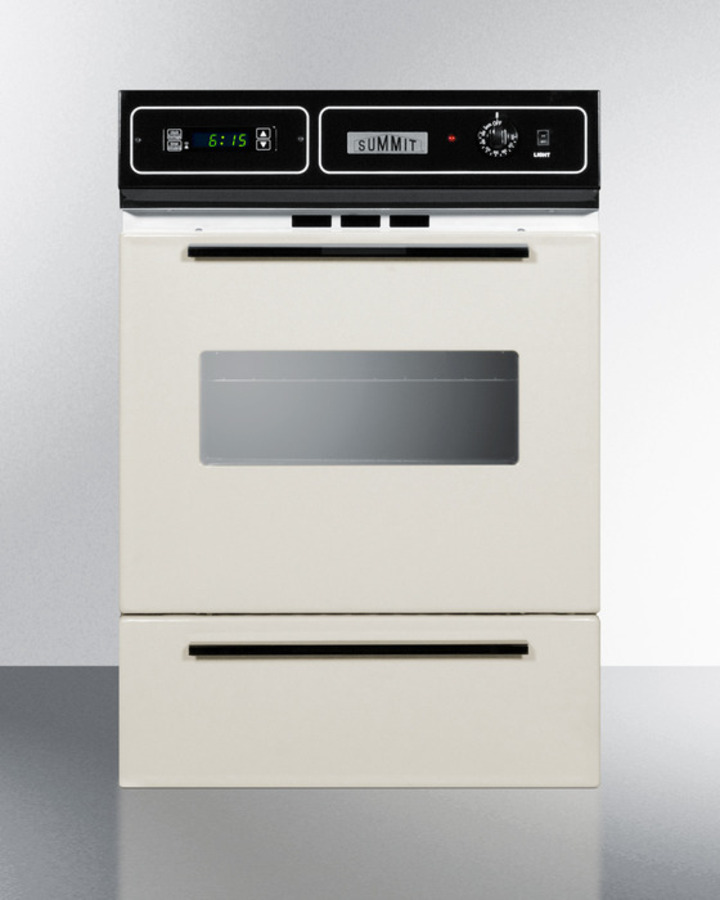 Stm7212kw Summit Bisque Gas Wall Oven With Electronic