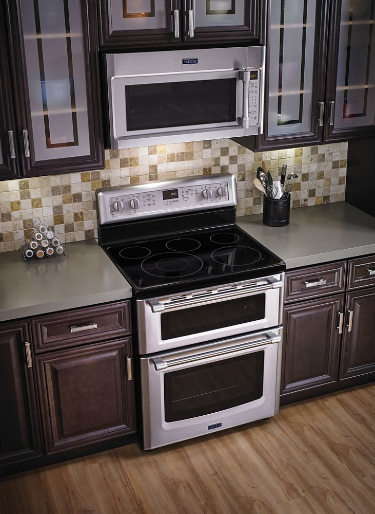 hidden additional 30inch wide double oven electric range with power element 67 cu