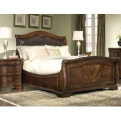 Heritage Court Leather Sleigh Bed, Queen Alternate Image