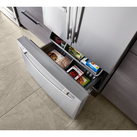 Jenn air 72 counter depth french door refrigerator with for Jenn air obsidian refrigerator