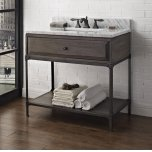 "FAIRMONT DESIGNSToledo 36"" Open Shelf Vanity"