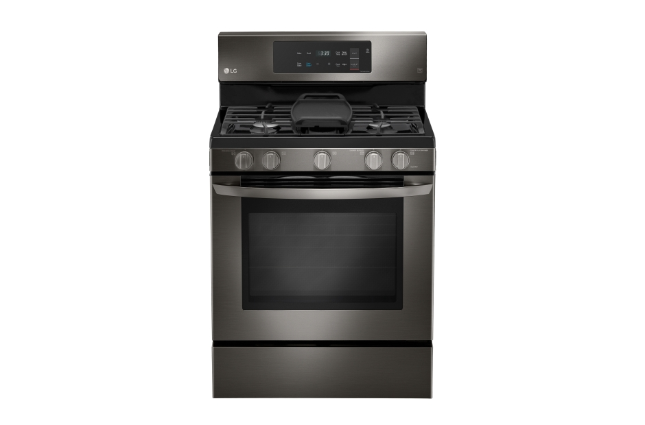 LG Black Stainless Steel Series 5.4 cu. ft. Capacity Gas Single Oven Range with EvenJet Fan Convection and EasyClean(R)