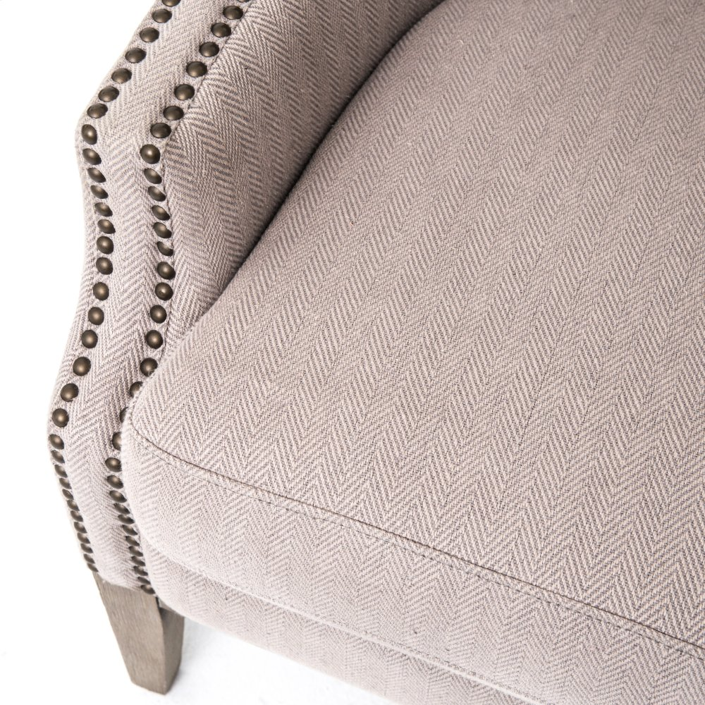 Additional Grey Chevron Cover Whitewash Finish Lillian Occasional Chair ...