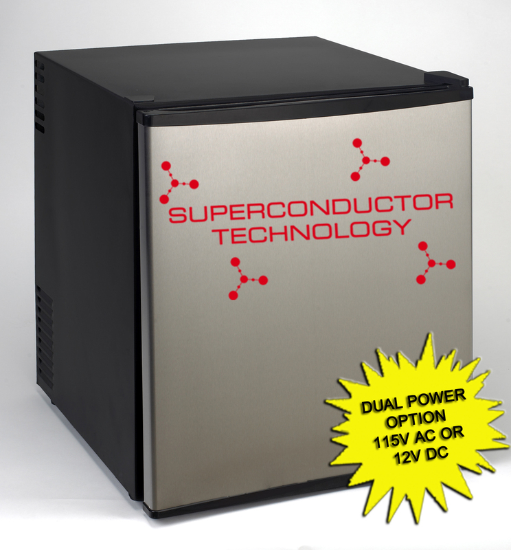 SUPERCONDUCTOR Refrigerator AC/DC  Black Cabinet with Stainless Steel Door