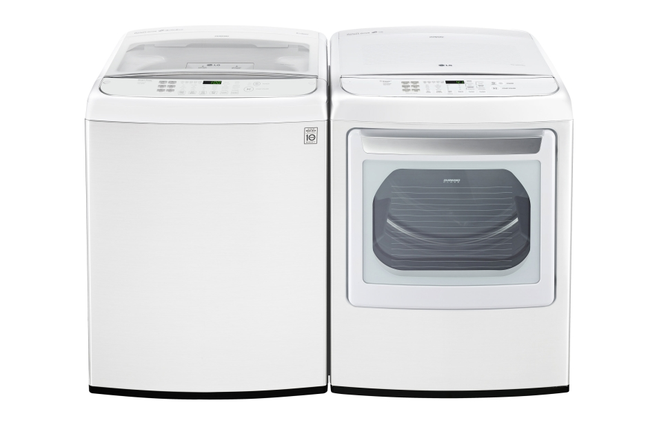 5.0 cu. ft. Ultra Large Capacity Front Control Top Load Washer with TurboWash(R)  White