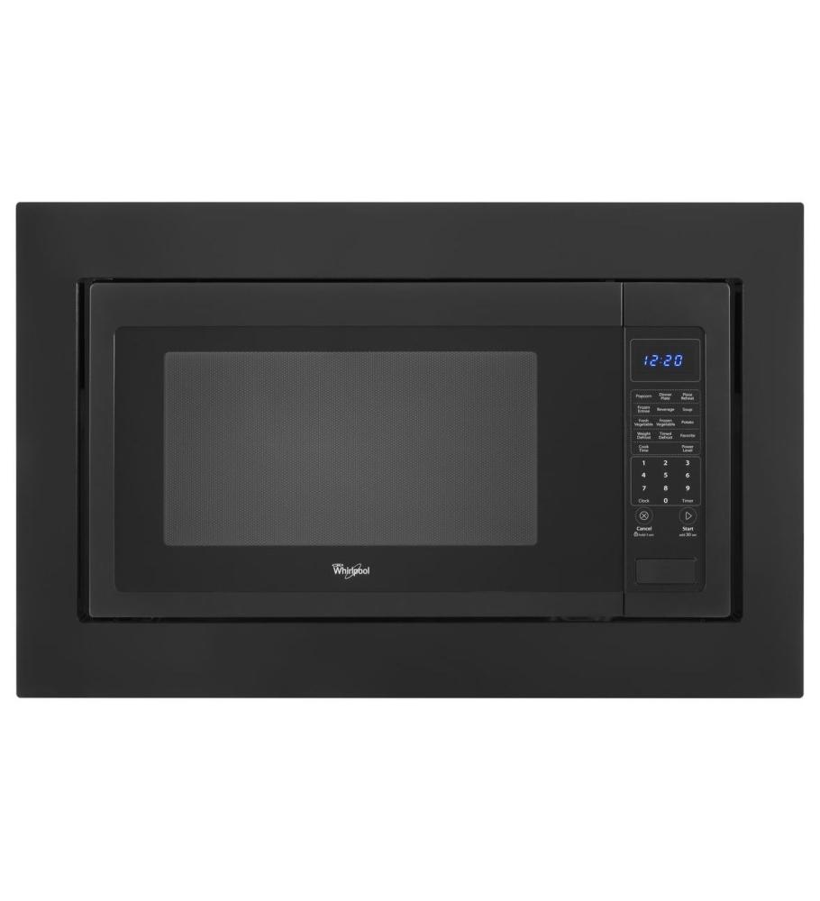 Mk2220ab kitchenaid 30 trim kit for countertop microwaves black aus tex appliance - Kitchenaid microwave with trim kit ...