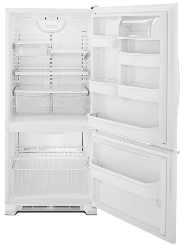 30-inches wide Bottom-Freezer Refrigerator with Accu-Chill System - 18.7 cu. ft.  White
