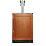 True ManufacturingTrue Manufacturing 24 Inch Dual Tap Overlay Solid Door Beverage Dispenser - Left Hinge Overlay Solid