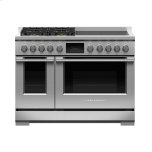 Fisher PaykelFisher Paykel Dual Fuel Range, 48&quot, 4 Burners, 4 Induction Zones, Self-cleaning, LPG
