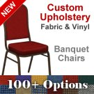 Custom Crown Back Banquet Chair with Gold Vein Frame - Choose from OVER 100 Custom Fabrics and Vinyls Product Image