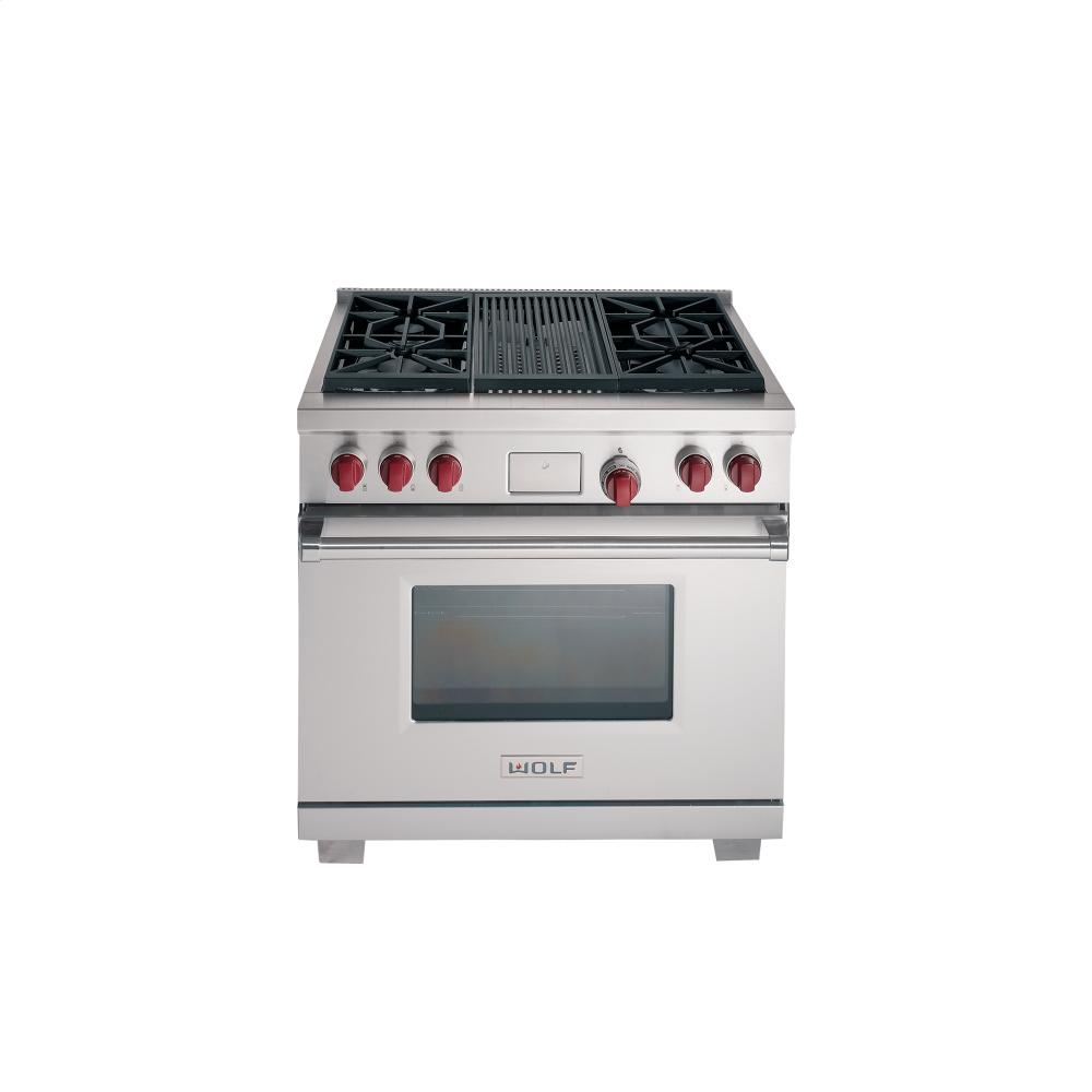 Contemporary range from wolf model 4 burners griddle - 36 Quot Dual Fuel Convection Range 4 Burners Griddle