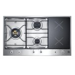 BertazzoniStainless 36 3-Burner Segmented Cooktop, 2 Induction