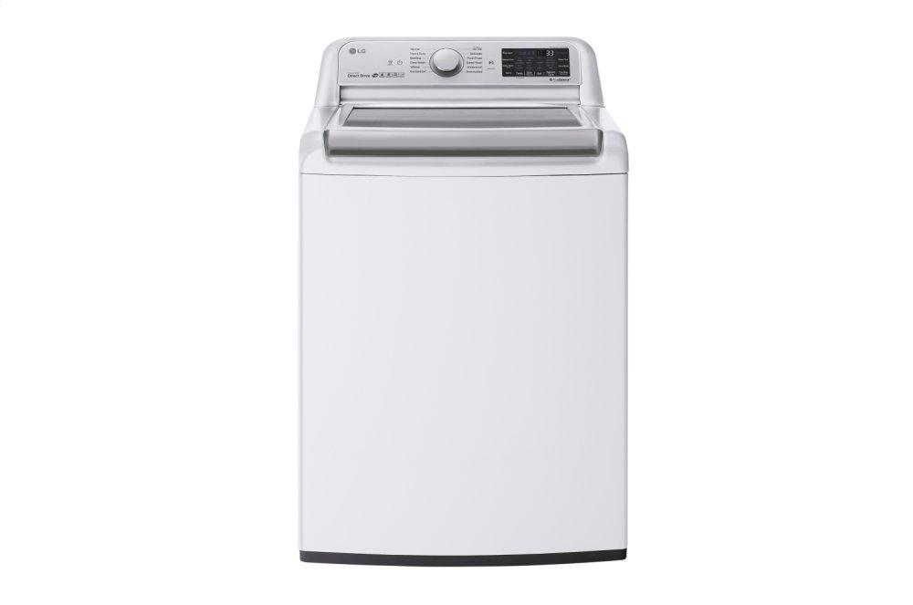 Lg 5 5 Cu Ft Smart Wi Fi Enabled Top Load Washer With