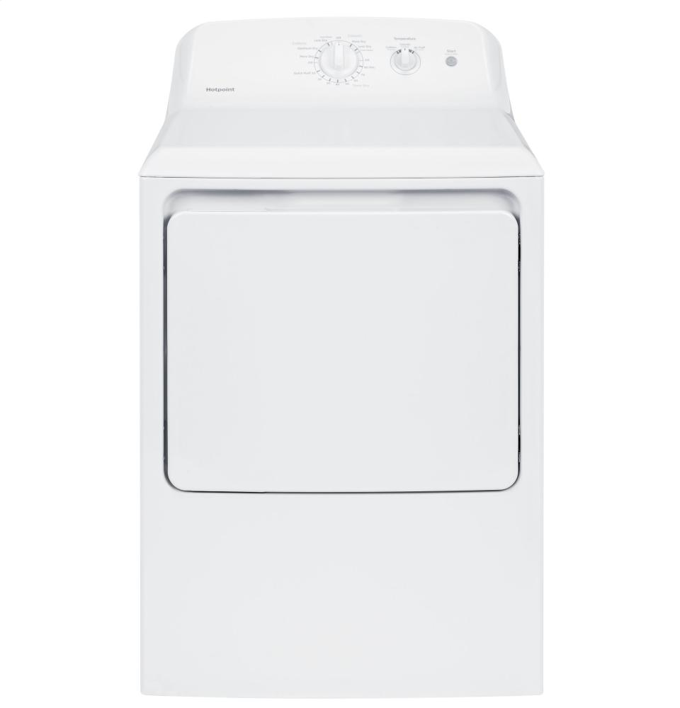 Hotpoint(R) 6.2 cu. ft. capacity aluminized alloy electric dryer