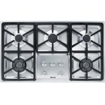 MieleMiele KM 3474 G Gas cooktop with 2 dual wok burners for particularly versatile cooking convenience.